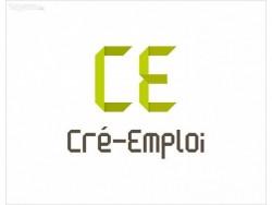 logo de cré emploi blanc